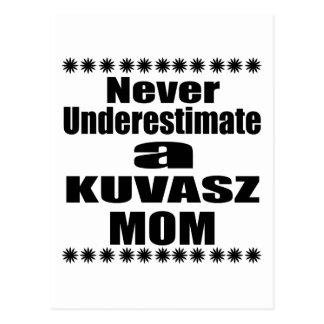Never Underestimate KUVASZ Mom Postcard