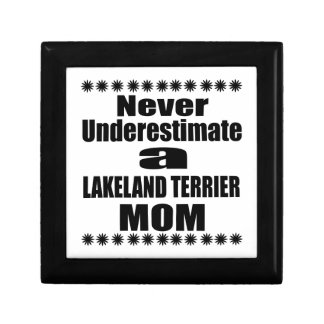 Never Underestimate LAKELAND TERRIER Mom Gift Box