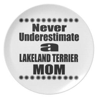 Never Underestimate LAKELAND TERRIER Mom Plate