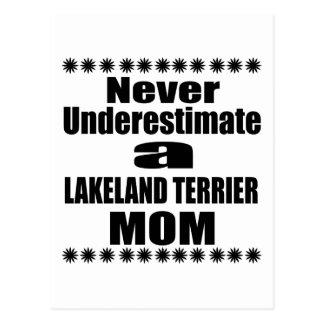 Never Underestimate LAKELAND TERRIER Mom Postcard
