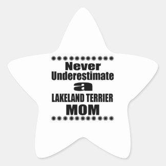 Never Underestimate LAKELAND TERRIER Mom Star Sticker
