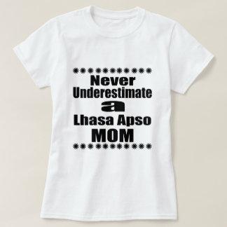 Never Underestimate Lhasa Apso  Mom T-Shirt