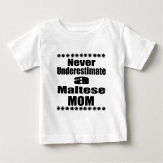 Never Underestimate Maltese Mom Baby T-Shirt