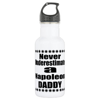 Never Underestimate Napoleon Daddy 532 Ml Water Bottle