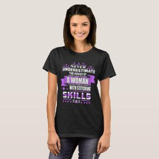 Never Underestimate Power Woman Stitching Skills T-Shirt