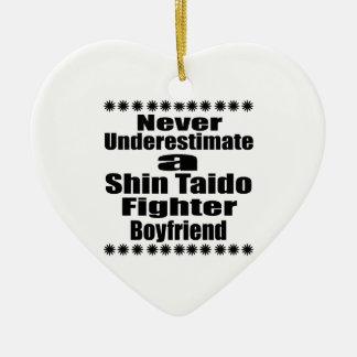 Never Underestimate  Shin Taido Fighter Boyfriend Ceramic Ornament