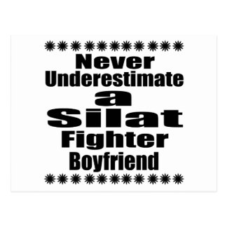 Never Underestimate  Silat Fighter Boyfriend Postcard