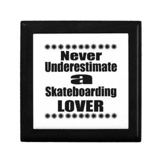 Never Underestimate Skateboarding Lover Gift Box