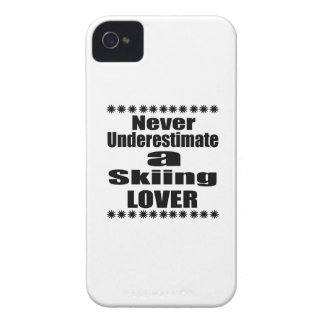 Never Underestimate Skiing Lover Case-Mate iPhone 4 Cases