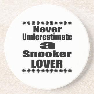 Never Underestimate Snooker Lover Coaster