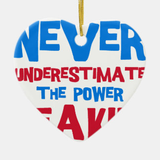 Never underestimate the power of a kid ceramic ornament