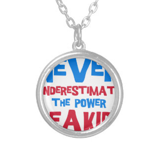 Never underestimate the power of a kid silver plated necklace
