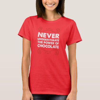 Never Underestimate the Power of Chocolate T-Shirt