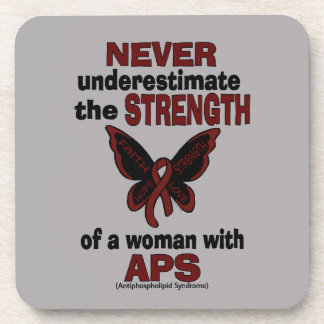 Never Underestimate...Woman/Butterfly...APS Coaster