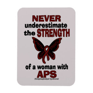 Never Underestimate...Woman/Butterfly...APS Magnet