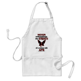 Never Underestimate...Woman/Butterfly...APS Standard Apron