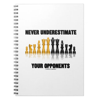 Never Underestimate Your Opponents (Chess Set) Spiral Notebook