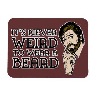 Never Weird To Wear A Beard Premium Flexi Magnet
