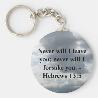 Never will I leave you; never will I forsake you. Key Ring