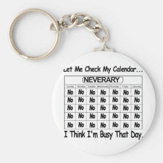 Neverary Calendar Busy Keychains