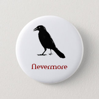 Nevermore 6 Cm Round Badge