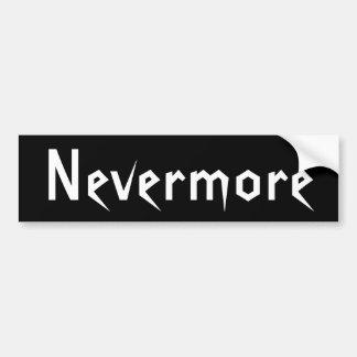 Nevermore Bumper Sticker Black