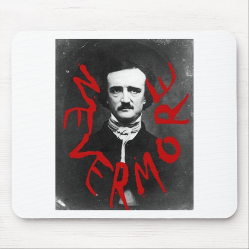 Nevermore in Blood~~~Edgar Allen Poe~~Altered Art Mousepads