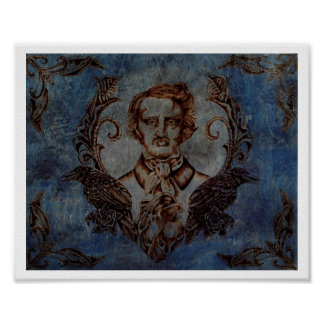 Nevermore in Blue Posters