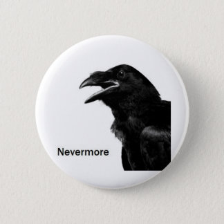 Nevermore Raven 6 Cm Round Badge