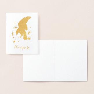Nevermore Raven gold Foil Card