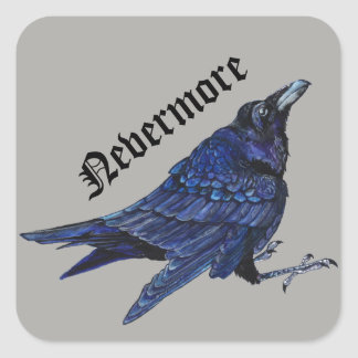 Nevermore Raven Square Sticker