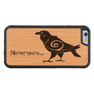 Nevermore Tribal Raven Carved Cherry iPhone 6 Bumper Case