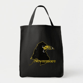 Nevermore with Raven by Edgar Allan Poe Grocery Tote Bag