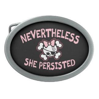 Nevertheless, Arr Oval Belt Buckles