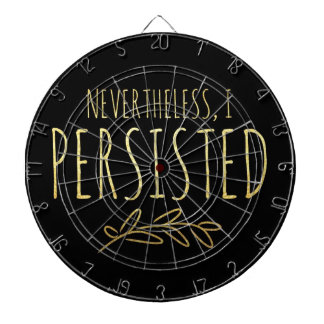 Nevertheless, I Persisted BLACK and GOLD Dartboard