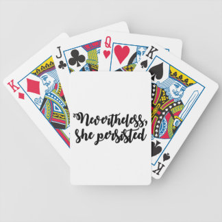 Nevertheless, she persisted bicycle playing cards