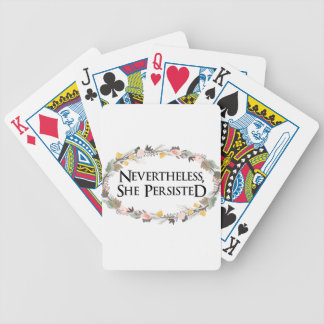 nevertheless she persisted bicycle playing cards