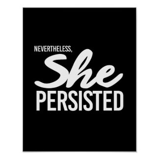 Nevertheless She Persisted - Elizabeth Warren --   Poster