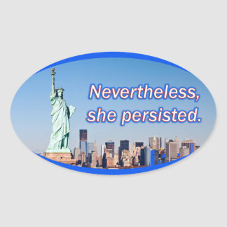 Nevertheless She Persisted - Mcconnell Warren Oval Sticker