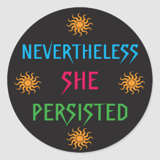 Nevertheless She Persisted Rainbow Suns Stickers