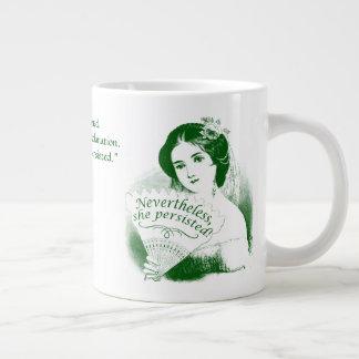 Nevertheless, She Persisted Victorian Lady & Fan10 Large Coffee Mug