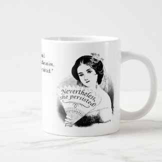 Nevertheless, She Persisted Victorian Lady & Fan 8 Large Coffee Mug
