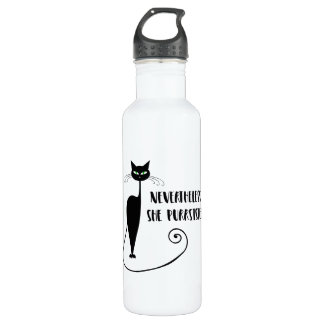 Nevertheless, She Purrsisted 710 Ml Water Bottle