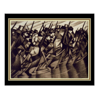 """Nevinson """"Returning to the Trenches"""" - Deco 16x20 Poster"""