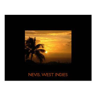 Nevis Sunset Postcard