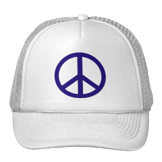 Nevy Blue Peace Sign Hat