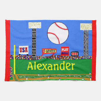 New 2013 Baseball Baby Gift Personalized Towel