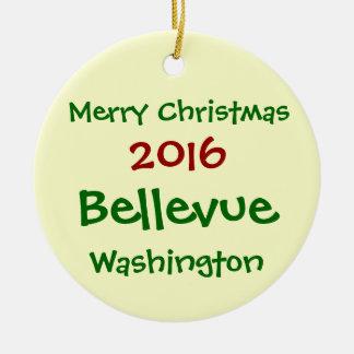 NEW 2016 BELLEVUE WASHINGTON CHRISTMAS ORNAMENT