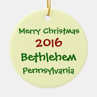 NEW 2016 BETHLEHEM PENNSYLVANIA CHRISTMAS ORNAMENT