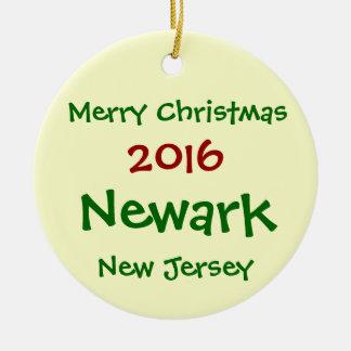 NEW 2016 CUSTOMIZABLE NEWARK NJ CHRISTMAS ORNAMENT